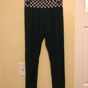 Rue 21 Leggings Medium Checkered Banded Waist